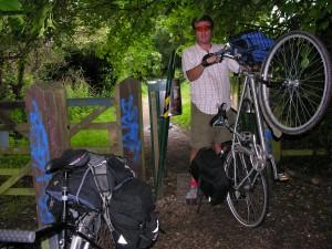 AW struggles through anti motorbike barrier