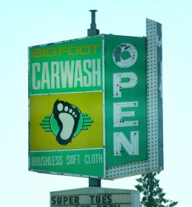 Bigfoot carwash