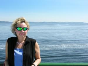 Kristine on ferry